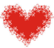 lacy vektor för hjärtaillustration Royaltyfria Bilder