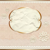 Lacy vintage border with flowers Royalty Free Stock Photo
