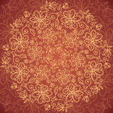 Lacy vintage flowers vector background Stock Photo