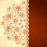 Lacy vintage flowers vector background Royalty Free Stock Photography