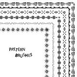 Lacy vintage ribbons and design elements, lacy seamless brushes included fully editable Stock Image