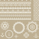 Lacy Ribbons, Napkins, and Design Elements. Lacy vintage ribbons, napkins, and design elements Royalty Free Stock Images