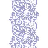 Lacy vintage trim. Gentle lacy vintage elegant trim. Vector illustration Stock Photography