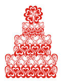 Lacy wedding cake. Vector illustration  Stock Photography