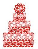 Lacy wedding cake. Vector illustration  Stock Photography