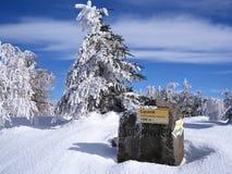 Lacznik, montagnes de Jizera, Pologne Images libres de droits