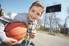 Lad with ball Royalty Free Stock Images
