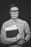 Lad with books Stock Photo