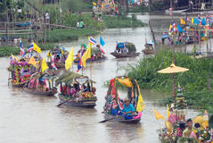Lad Chado Candle Floating Festival,Thailand. Royalty Free Stock Image