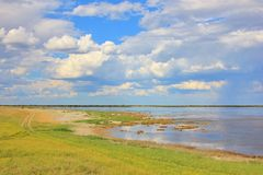 Ślad droga niebo - kolory w natury tle Obraz Stock
