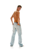 Lad in jeans Stock Image