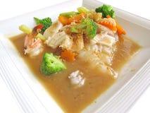 Lad Nah Shrimp Noodle Stock Photos