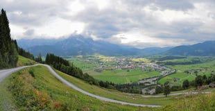 Ślad przy europejskimi alps saalfelden leogang Obrazy Royalty Free