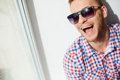 Lad in sunglasses Royalty Free Stock Photo