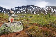 Ślad w Norwegia Zdjęcia Royalty Free