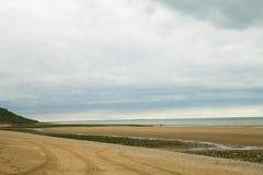 Ślad w piasku Zdjęcie Stock
