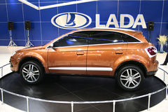Lada C-Cross. At the Moscow International Automobile Salon, motor show (MIAS-2008) August 27 - September 7 Royalty Free Stock Photography