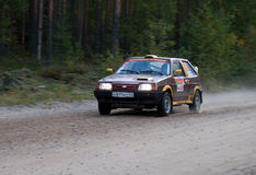 Lada car on Rally St. Petersburg 2011 Royalty Free Stock Photos