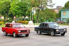 Lada 2105 i Lada 2107 Fotografia Royalty Free