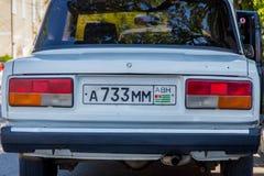 Lada med den abkhazian registreringsskylten Royaltyfria Bilder