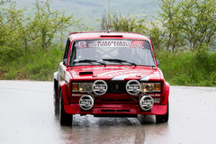 Lada on Miskolc Rally Hungary. 2016 Royalty Free Stock Image