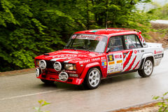 Lada on Miskolc Rally Hungary. 2016 Stock Images