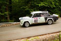 Lada on Miskolc Rally Hungary. 2016 Royalty Free Stock Photos