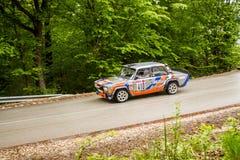 Lada on Miskolc Rally Hungary. 2016 Royalty Free Stock Photography