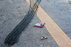 Ślada na ulicie Zdjęcie Stock