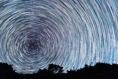 Ślada od gwiazd w postaci linii Obraz Stock