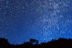 Ślada od gwiazd w postaci linii Fotografia Stock