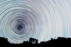 Ślada od gwiazd w postaci linii Zdjęcia Royalty Free