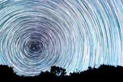 Ślada od gwiazd w postaci linii Obrazy Stock