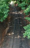 Ślada Przez Treelines Fotografia Stock
