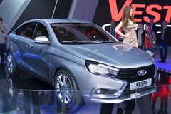 Lada Vesta概念 免版税库存图片