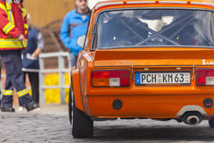 Lada VFTS drives along a street on an oldtimer festival Royalty Free Stock Photography