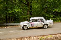 Lada Vfts on Miskolc Rally Hungary. 2016 Stock Photos