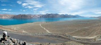Ladakh的Pangong湖,印度 图库摄影