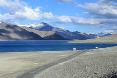ladakh的Pangong湖 库存照片