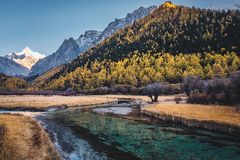 Ladakh-Bergblick inida stockbild