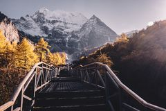 Ladakh-Bergblick inida lizenzfreies stockfoto