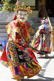 Ladakh Festival 2013, mask dancer with traditional dress Royalty Free Stock Photos