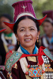 Ladakh Festival 2013, woman with traditional dress Stock Photos
