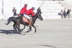 The Ladakh festival 2017. LEH, INDIA - SEPTEMBER 22, 2017: Polo much during the Ladakh Festival in Leh India on September 20, 2017 Royalty Free Stock Images