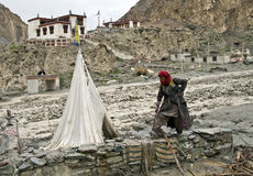 Ladakh flood Stock Image