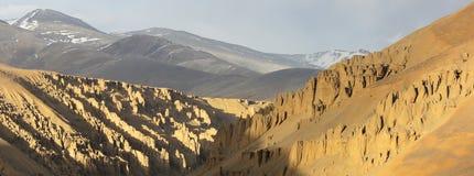 Ladakh, het Landschap van de sneeuwwoestijn Royalty-vrije Stock Foto's
