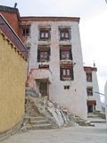 Ladakh, India, an external ladder and a building Stock Photography