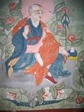 Ladakh, India, medieval wall drawings Royalty Free Stock Photo