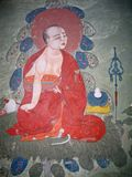 Ladakh, India, medieval wall drawings Stock Image