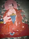 Ladakh, India, medieval wall drawings Stock Images